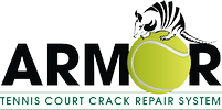 Tennis court crack repair system